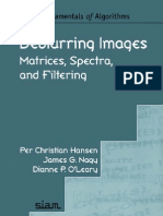 Deblurring Images, Matrices, Spectra, And Filtering (Fundamentals of Algorithms)