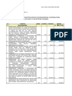 Presupuesto de construcción de escenografias estudio A de noticias Telemax.