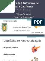 Diagnóstico de Pancreatitis Aguda (presentación)