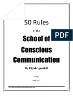 50 Rules of the School of Conscious Communication
