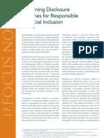 Designing Disclosure Regimes for Responsible Financial Inclusion