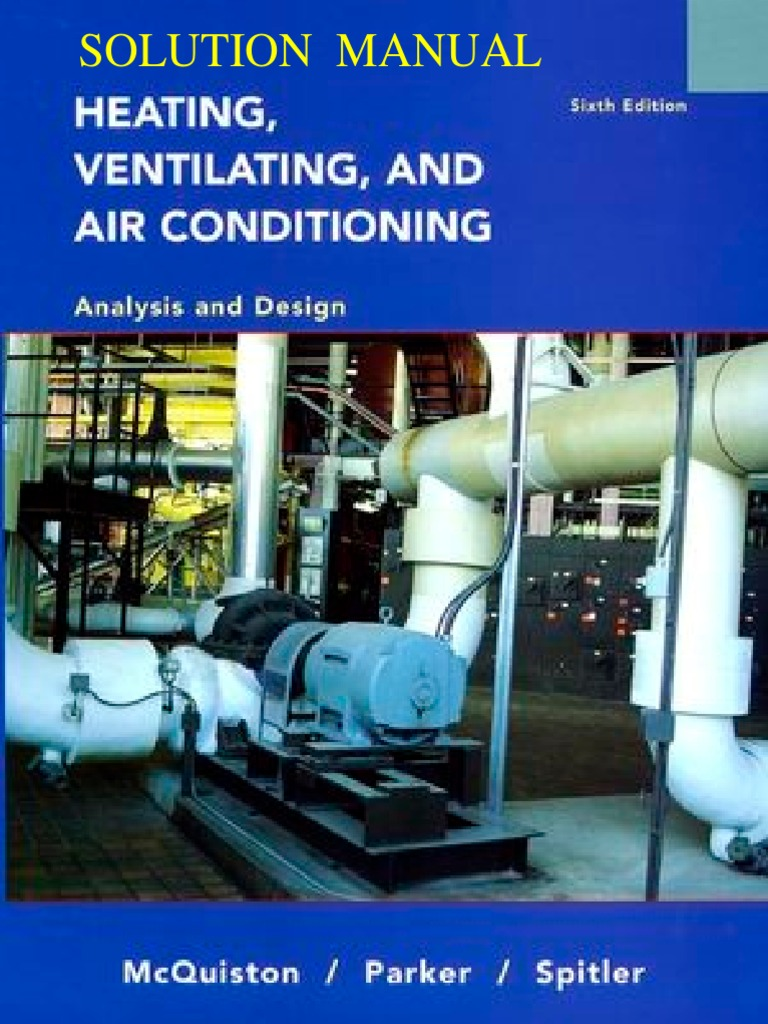 McQuiston HVAC Analysis Design 6th Solutions | Thermodynamic Properties |  Physical Quantities
