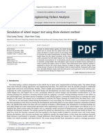 Simulation of wheel impact test using finite element method