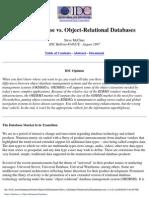 Object Database Vs_ Object-Relational Databases
