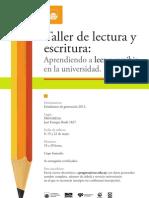 Aprendiendo a Leer y Escribir en La Universidad - Afiche - PROGRESA