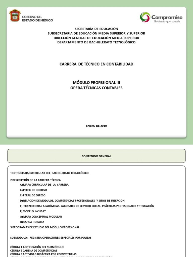 TÉCNICO EN CONTABILIDAD M III