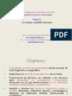 Los textos científico-técnicos