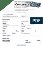 Processo Seletivo Simplificado 001_2012 - Comprovante de Inscrição - Prefeitura Municipal de Goiânia