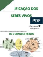 CLASSIFICAÇÃO DOS SERES VIVOS 2012