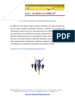 CAPITULO  Nº 5 EL  ÉXITO LO PONES TÚ