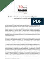 Manifiesto Alianza de Plataformas 9 de Mayo
