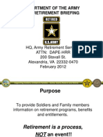 US ARMY Pre Retirement Briefing Feb2012