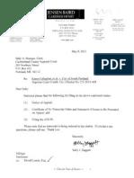 South Portland's Notice of Appeal, Karen Callaghan et al. V. City of South Portland