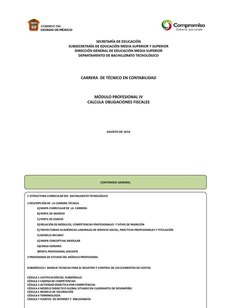 TÉCNICO EN CONTABILIDAD M IV