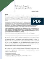Rio de Janeiro Olympique_Murs Tropicaux Favelas Et Gentrification_Olivier Borius