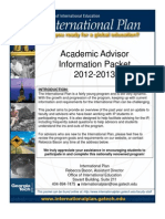 Advisor Packet 2012-2013