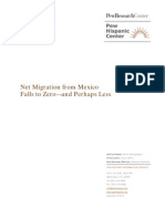 Net Migration from Mexico Falls to Zero—and Perhaps Less