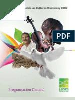 Forum Universal de las Culturas Monterrey 2007 Programacion General