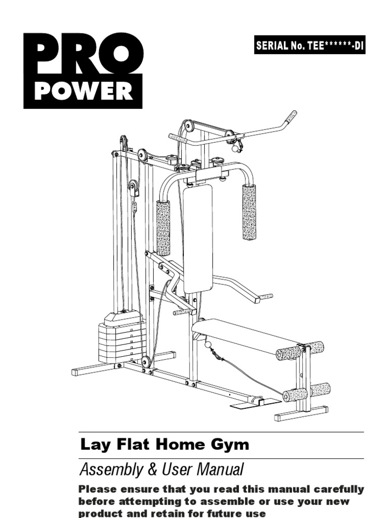 Pro Power Lay Flat Home Gym Inst Di V