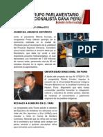 Bancada Nacionalista Gana Perú - Boletín Nº 26 - 27