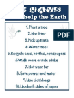 10 Ways I Can Help the Earth