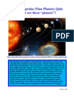 Nine Planets (Navagraha) Quiz