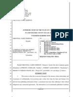 Complaint Breach of Fiduciary Duties