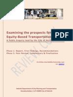 Helsinki Equity Report Peer Review Draft - Version 10/05/12