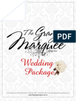 Marquee Wedding Package 2012