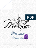Marquee Private Events Package 2012