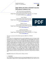 11.[28-37]Fostering a Paradigm Shift in the Roles of Health Promotion Education in Southeast Asia
