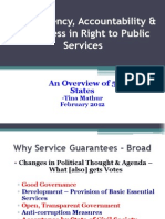 Right to Public Services PPT TinaMathur