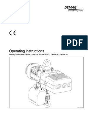 [SCHEMATICS_44OR]  Demag DKUN Hoist Operating Manual | Electrician | Safety | Demag Hoist Wiring Diagram |  | Scribd