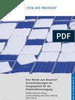 Eine Wende zum Besseren? Herausforderungen der Energiepolitik für die Elektrizitätsversorgung