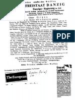 Fax Der Danziger Exil-Regierung