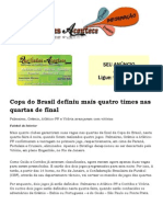 Copa Do Brasil Definiu Mais Quatro Times Nas Quartas de Final