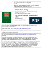Iran and Central Asia- Paradigm and Policy