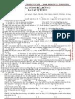 2012 - Chuyên đề 01 -  Đại Cương Về Hóa Học Hữu Cơ