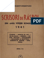 Scrisori de Razboi Din Anul Vitejiei Romanesti 1941 - Al. Lascarov-Moldovanu