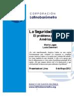La seguridad ciudadana en América Latina, Latinobarómetro