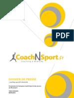 Coach'N'Sport (Dossier de presse)