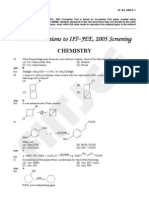 iit jee screening chemistry 2005 solution
