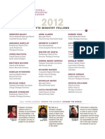 2012 FTE Fellows Roster