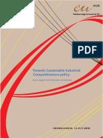Towards Sustainable Industrial Competitiveness policy(Eng)/ Hacia una política de competitividad industrial sostenible(Ing)/ Iraunkorra den lehiakortasun industrial politikarantz(Ing)