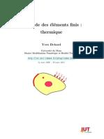 Methode Des Element Dinies Thermique