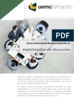 Curso universitario de especialización en Habilidades de Dirección