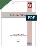 Participant s Pack