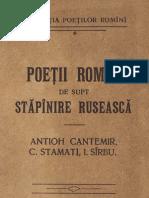 Poetii Romani de Supt Stapanire Ruseasca - 1910