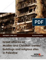 Israeli attacks on Muslim-and Christian-owned buildings and religious sites in Palestine