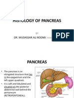 Histology of Pancreas by Dr. Roomi